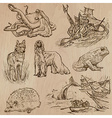 Animals around the World part 18 Hand drawn pack vector image vector image