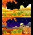 autumn landscapes vector image vector image