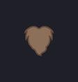 Beard computer symbol vector image