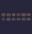 big set luxury logo template flourishes vector image