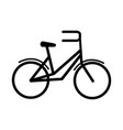 bike transport recreational sport in silhouette vector image