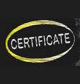 certificate blackboard vector image vector image
