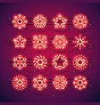 christmas neon snowflakes red vector image vector image