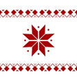 christmas red ornament banner on white background vector image