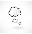 clouds grunge icon vector image