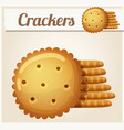 cracker cookies detailed icon vector image vector image