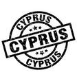 cyprus black round grunge stamp vector image vector image