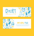 dairy products banner template natural milk vector image