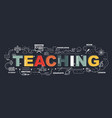 design concept of word teaching website banner vector image vector image