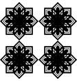 design seamless monochrome snowflake pattern vector image vector image