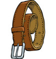 doodle leather belt vector image vector image