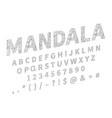 ethnic font ornament alphabet abc set vector image
