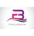 fb f b letter logo design creative icon modern vector image vector image
