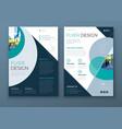 flyer with minimal geometric design modern vector image vector image