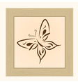 frame with butterfly vector image vector image