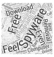 Free Spyware Downloads Word Cloud Concept vector image vector image