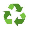 green triangular eco vector image vector image