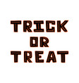 hand-drawn black unique lettering for halloween vector image vector image