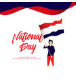 happy netherlands national day template design vector image