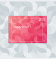 horizontal cover template a4 wavy abstract design vector image vector image