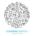 house cleaning services vector image vector image