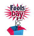 humor celebration enjoy fools day card vector image