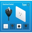 Isometric Switches and sockets set Type I AC vector image vector image