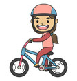 kid with her bicycle children book vector image vector image
