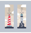 lighthouse beacon lighter beaming path of vector image vector image