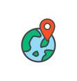 location pins flat icon sign symbol vector image