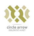 Logo Design Letter C Arrow Icon Symbol Abstract vector image