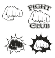 logos with the image of a fist vector image