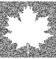 Maple leaf isolated halftone autumn background vector image vector image