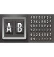 metallic plaque with abc vector image