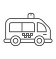 mini bus thin line icon automobile and car vector image vector image