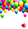 Multicolored inflatable balloons isolated on white vector image