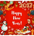New Year festive poster design vector image vector image
