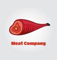 paper cut meat hamon jamon in papercut vector image vector image