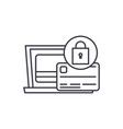 payment protection line icon concept payment vector image vector image