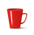photorealistic red cup vector image vector image