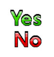 pixel yes no text detailed isolated vector image vector image