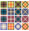 plaid patterns straight and diagonal orientation vector image