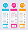 product pricing comparison table vector image
