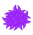 Purple fluffy ball bacteria vector image vector image