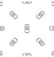 recycle battery pattern seamless vector image vector image