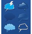 set different speech cloud vector image vector image