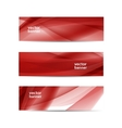 set of abstract wavy vector image vector image