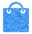 shopping bag grunge icon vector image