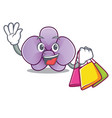 shopping orchid flower character cartoon vector image vector image