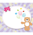 teddy bear with balloons vector image